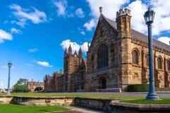 Fachada da construção de Sydney Uni Universidade da foto do dia de Sydney Foto de Stock Royalty Free