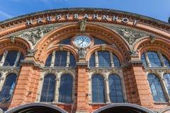 Fachada da estação de trem central principal de Brema Fotografia de Stock Royalty Free