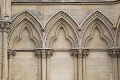 Fachada da igreja da catedral da igreja de York; Inglaterra Imagens de Stock Royalty Free