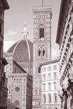 Fachada da igreja da catedral de Doumo, Florença, Imagens de Stock
