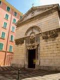 Fachada da igreja de Bastia Fotografia de Stock