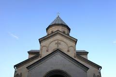 Fachada da igreja de Kashveti Foto de Stock