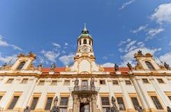 Fachada da igreja de Lord Birth (Loreta) em Praga Fotos de Stock Royalty Free