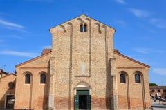 Fachada da igreja de Murano, Veneza Fotos de Stock