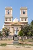 Fachada da igreja de Notre Dame de Agnes em Pondicherry no Tamil Nadu, Índia sul Fotos de Stock