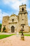 Fachada da igreja de San Jose da missão em San Antonio Texas fotografia de stock royalty free