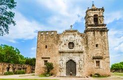 Fachada da igreja de San Jose da missão em San Antonio Texas imagens de stock royalty free