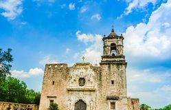 Fachada da igreja de San Jose da missão em San Antonio Texas imagens de stock