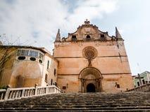 Fachada da igreja de Sant Miquel em Felanitx, Palma, Espanha Fotografia de Stock