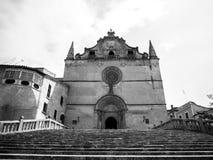 Fachada da igreja de Sant Miquel em Felanitx, Palma, Espanha Imagens de Stock