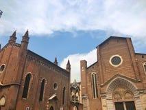 Fachada da igreja de Santa Anastasia, Verona, Itália Fotografia de Stock