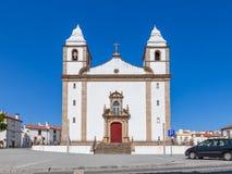 Fachada da igreja de Santa Maria da Devesa, a igreja de mãe de Castelo de Vide Foto de Stock Royalty Free