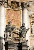 Fachada da igreja de St Peter e de Paul em Cracow foto de stock royalty free