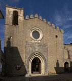 Fachada da igreja de Tiago de Saint em Palmela Foto de Stock