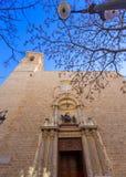 Fachada da igreja de Valencia San Martin da Espanha Imagem de Stock Royalty Free