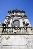 A fachada da igreja do dos Clerigos do igreja em Porto, Portugal do norte Imagem de Stock Royalty Free