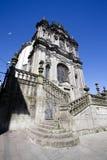 A fachada da igreja do dos Clerigos do igreja em Porto, Portugal do norte Fotos de Stock