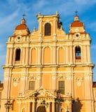 Fachada da igreja do St Casimiro em Vilnius Fotos de Stock Royalty Free