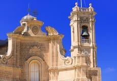 Fachada da igreja em Malta Imagens de Stock