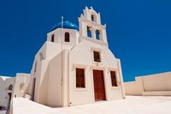 Fachada da igreja em Oia Santorini, Greece Fotografia de Stock
