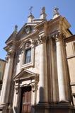 Fachada da igreja em Siena Fotos de Stock