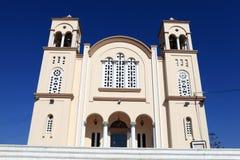 Fachada da igreja grega Imagem de Stock