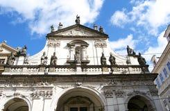Fachada da igreja na cidade de Praga Imagem de Stock Royalty Free
