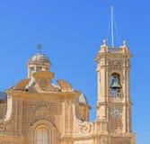 Fachada da igreja na ilha de Gozo Imagens de Stock Royalty Free