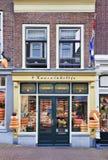 Fachada da loja famosa do queijo no Gouda, Países Baixos Fotografia de Stock Royalty Free