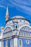 Fachada da mesquita velha de Fatih Camii (Esrefpasa) em Izmir, Turquia Imagens de Stock Royalty Free