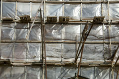 Fachada da restauração da construção velha Fotos de Stock