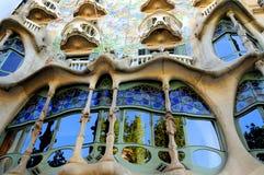 Fachada de Batllo das casas, Spain-Barcelona Fotos de Stock Royalty Free