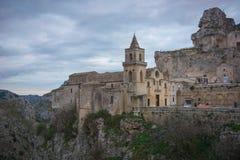 fachada de centro histórica Matera fotografía de archivo libre de regalías