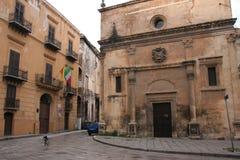 Fachada de Church°°° S. MARIA DEI MIRACOLI_. _ Palermo de la estilo-iglesia del renacimiento Fotografía de archivo libre de regalías