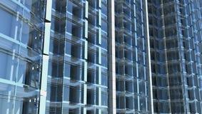 Fachada de cristal en blanco del edificio de oficinas Imagenes de archivo