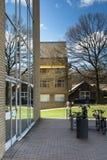 Fachada de cristal - universidad de Aarhus, Dinamarca Foto de archivo