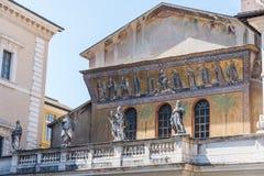 Fachada de di Santa Maria da basílica em Trastevere Imagem de Stock Royalty Free