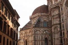 Fachada de Florence Italy Baptistery de San Giovanni con la bóveda Santa Maria del Fiore Fotos de archivo