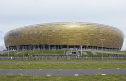 Fachada de Gdansk da arena de PGE Fotos de Stock