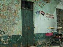 Fachada 6 de Havana, Cuba Fotografia de Stock