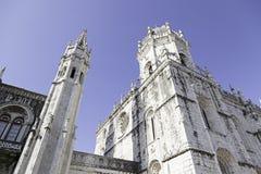 Fachada de Jeronimos en Lisboa Foto de archivo