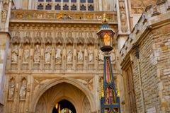 Fachada de la abadía de Londres Westminster Imágenes de archivo libres de regalías