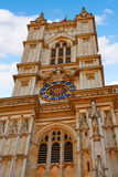Fachada de la abadía de Londres Westminster Foto de archivo libre de regalías