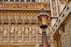 Fachada de la abadía de Londres Westminster Fotografía de archivo libre de regalías