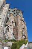 Fachada de la abadía del ` s de San Miguel en Val di Susa piedmont Italia Imagenes de archivo