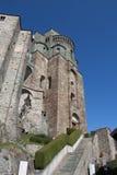 Fachada de la abadía del ` s de San Miguel en Val di Susa piedmont Italia Fotos de archivo