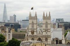 Fachada de la abadía de Westminster Foto de archivo libre de regalías