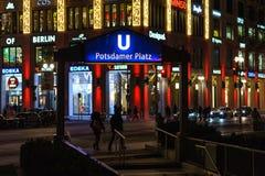 Fachada de la alameda del ` del centro comercial del ` de Berlín en Leipziger Platz Fotografía de archivo libre de regalías