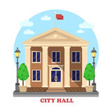 Fachada de la arquitectura del ayuntamiento del exterior constructivo Fotos de archivo libres de regalías