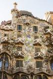 Fachada de la casa Batllo Diseñado por Antoni Gaudi y construido en 1877 fotos de archivo libres de regalías